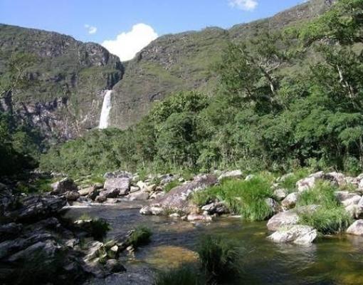 Cachoeira Casca d'Anta, na nascente do rio São Francisco, no Parque Nacional da Serra da Canastra (MG)